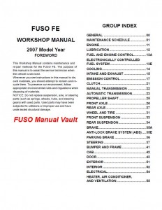fuso manuals archives page of  2007 mitsubishi fuso fe84 fe85 truck service manual pdf