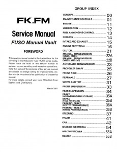 1992 1995 mitsubishi fuso fighter fk fm truck service manual pdf rh mitsubishifuso manualvault com Mitsubishi Truck Repair Manual Mitsubishi Truck Repair Manual