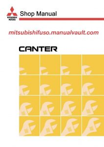 2001 mitsubishi fuso canter fe fb europe truck service manual pdf rh mitsubishifuso manualvault com mitsubishi fuso canter owners manual mitsubishi fuso canter repair manual