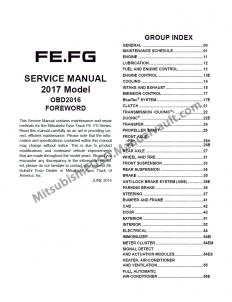 2017 FUSO USA Service Manual
